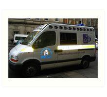 Police car, Edinburgh Art Print