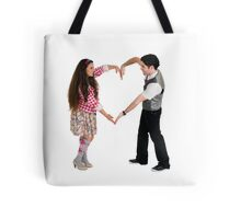 Valentine's Day - Young couple forms a heart shape with their arms  Tote Bag