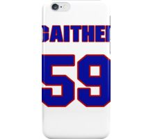 National football player Omar Gaither jersey 59 iPhone Case/Skin
