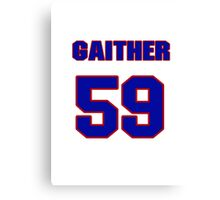 National football player Omar Gaither jersey 59 Canvas Print