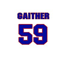 National football player Omar Gaither jersey 59 Photographic Print