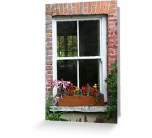 The Window And The Window Beyond Greeting Card