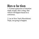 Definition: New Year's Resolution by Anne van Alkemade