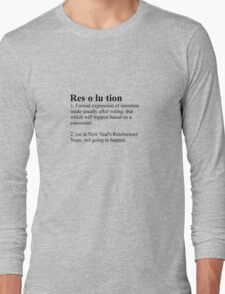 Definition: New Year's Resolution T-Shirt