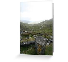 Snow Marker at Healy Pass Greeting Card