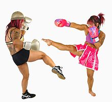 two Female Kick Boxers  by PhotoStock-Isra