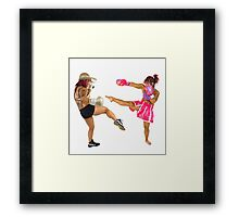 two Female Kick Boxers  Framed Print