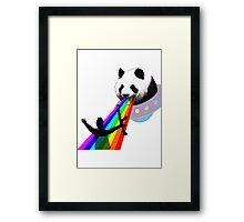Panda stop gunner Framed Print