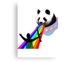 Panda stop gunner Canvas Print