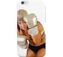 Female Kick Boxer iPhone Case/Skin