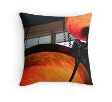 Orange and Iron Throw Pillow