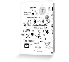 One Direction Tattoos Greeting Card