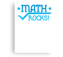 MATHS ROCKS with pi  Canvas Print