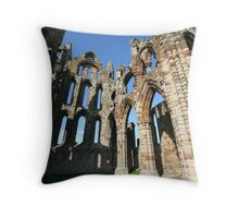 Abbey Ruins Whitby Throw Pillow