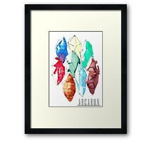 Arcaron: power cristals Framed Print