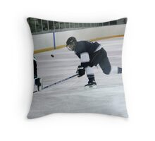 keeping the puck Throw Pillow