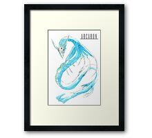 Arcaron: Leviathan king of Shier'pe Framed Print