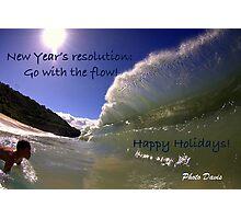 Kid vs. Wave - Holiday Edition Photographic Print