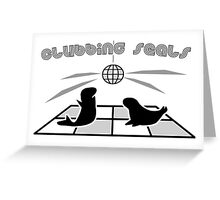 Clubbing Seals Greeting Card