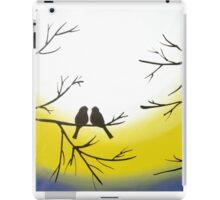 love bird landscape abstract bird painting triptych nursery canvas wall art pop abstraction contemporary art iPad Case/Skin