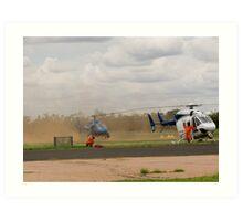 Chopper Touchdown Art Print