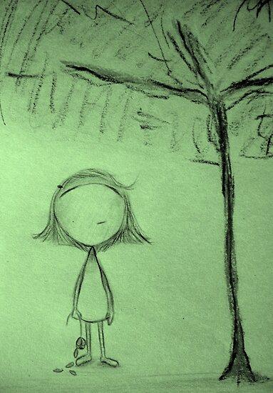 Umbrella Tree by Luckyvegetable