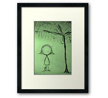 Umbrella Tree Framed Print