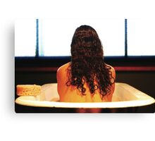 Bath Tub Glow Canvas Print