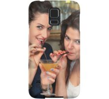 Two young woman share a cocktail  Samsung Galaxy Case/Skin