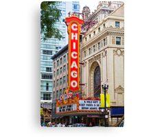 The Chicago theatre, Chicago, Illinois, USA Canvas Print