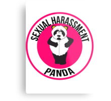 Sexual Harassment Panda Metal Print