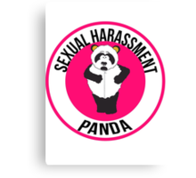 Sexual Harassment Panda Canvas Print