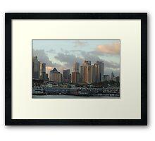 Lights On Sydney - Moods of A City, Sydney Australia Framed Print
