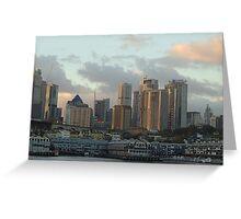 Lights On Sydney - Moods of A City, Sydney Australia Greeting Card