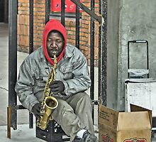 The Sax Player by Terry Doyle