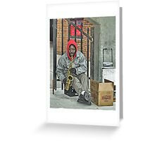 The Sax Player Greeting Card