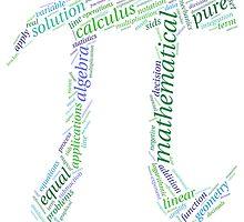 Pi: Maths Word Cloud 1 by HumanCalculator