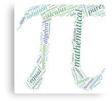 Pi: Maths Word Cloud 1 Canvas Print