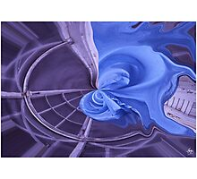 Blue Sheet Abstract Photographic Print