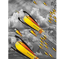 vintage rocket ship Photographic Print
