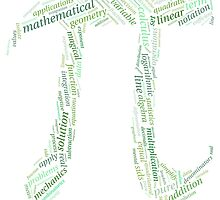 Pi: Maths Word Cloud 2 by HumanCalculator