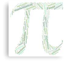 Pi: Maths Word Cloud 2 Canvas Print