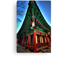Old Temple Building Canvas Print