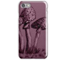 Tiny Mushrooms ...  Pencil Sketch iPhone Case/Skin
