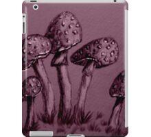 Tiny Mushrooms ...  Pencil Sketch iPad Case/Skin