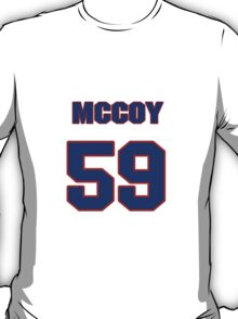 National football player Matt McCoy jersey 59 T-Shirt