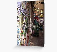Melbourne Alley Greeting Card