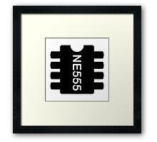 NE 555 IC Framed Print