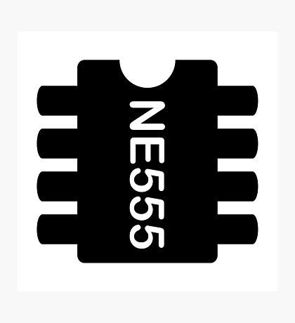 NE 555 IC Photographic Print