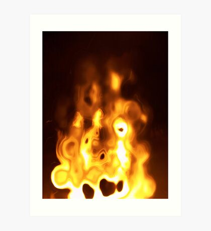 figure in the fire... Art Print